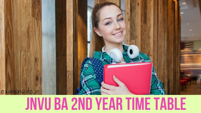 JNVU BA 2nd Year Time Table 2021
