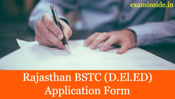 Rajasthan BSTC 2021 Application Form