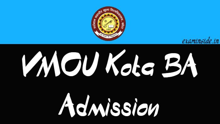 VMOU KOTA BA ADMISSION 2021