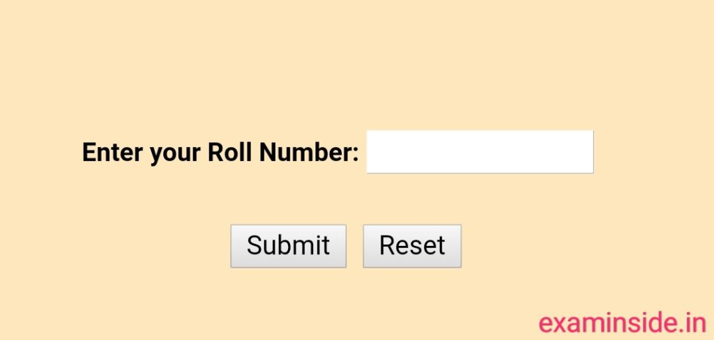 rbse 10th result 2021 roll number