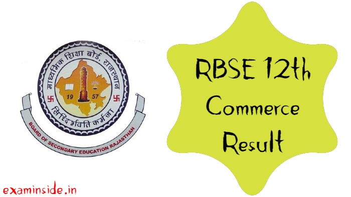 RBSE 12TH COMMERCE RESULT 2021