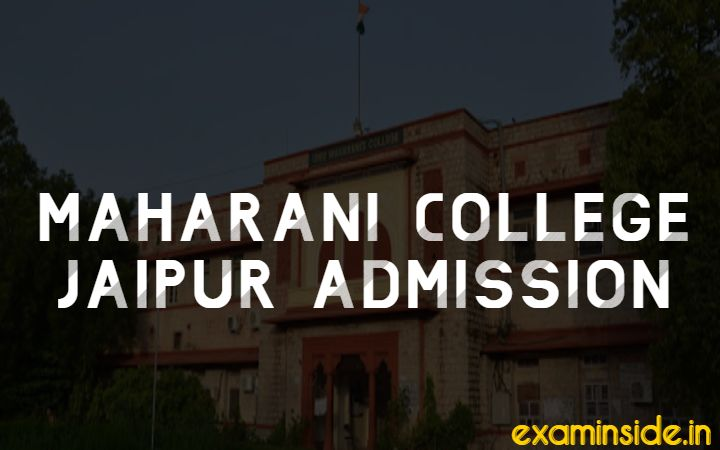 maharani college jaipur admission form 2020-21