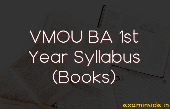 vmou ba 1st year syllabus books download