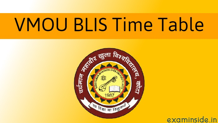 vmou blis time table date 2021