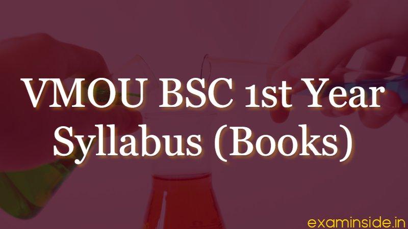 vmou kota bsc 1st year syllabus books