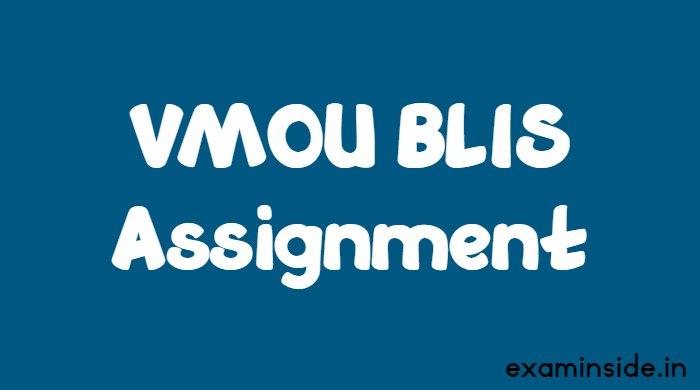 vmou blis assignment