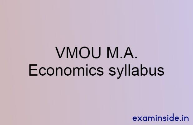 vmou ma economics syllabus