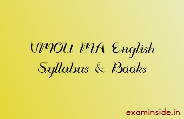 vmou ma english syllabus books pdf download