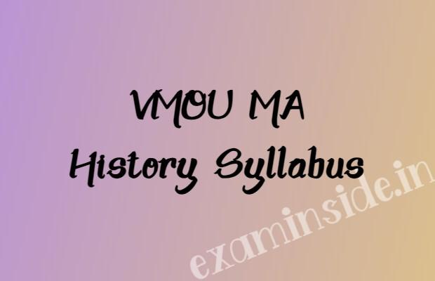 vmou ma history syllabus books pdf