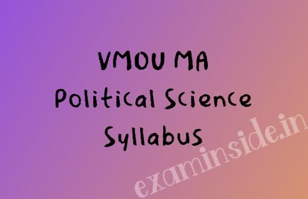 vmou ma political science syllabus books