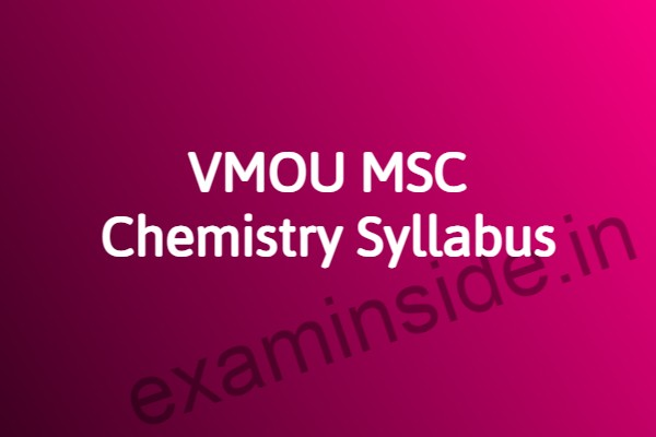 vmou msc chemistry syllabus