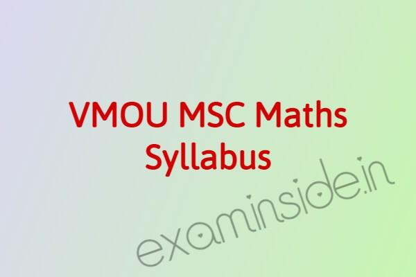 vmou msc maths syllabus