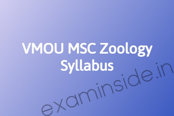 vmou zoology chemistry syllabus