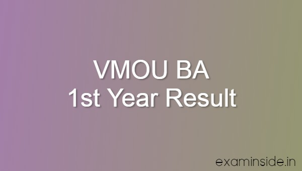 vmou ba 1st year result 2020