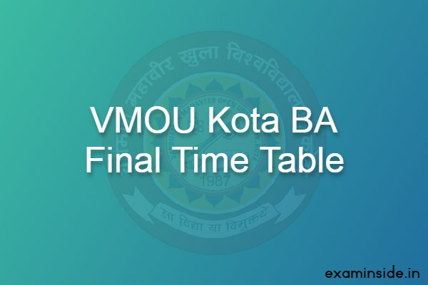 vmou ba final exam date 2021 time table