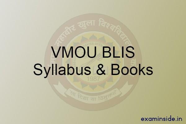 vmou blis syllabus books pdf download