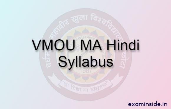 vmou ma hindi syllabus