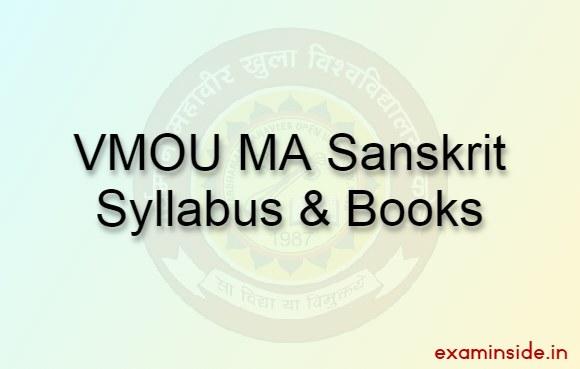 VMOU Syllabus MA Sanskrit