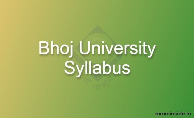 mp bhoj university syllabus