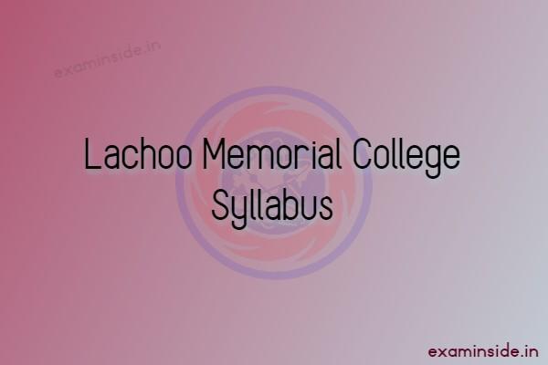 lachoo memorial college syllabus