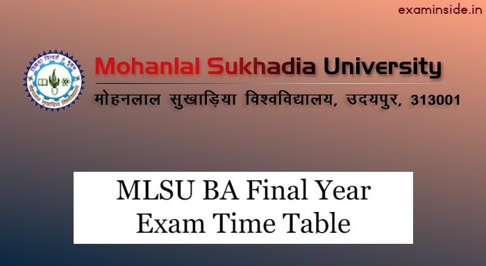 mlsu ba final year time table