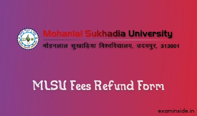 mlsu fee refund form