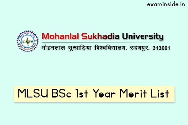 mlsu bsc 1st year merit list 2021