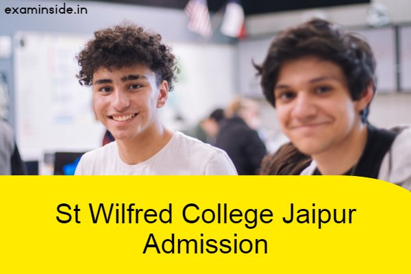 st wilfred college jaipur admission form 2021