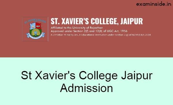 st xaviers college jaipur admission 2021-22