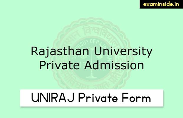 UNIRAJ Private Form 2021