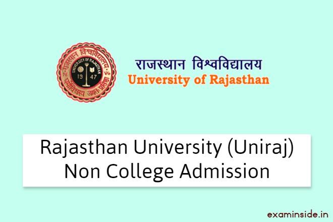 Rajasthan University Non College Admission 2021