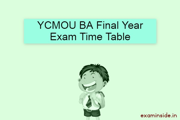 ycmou ba final year exam time table 2021