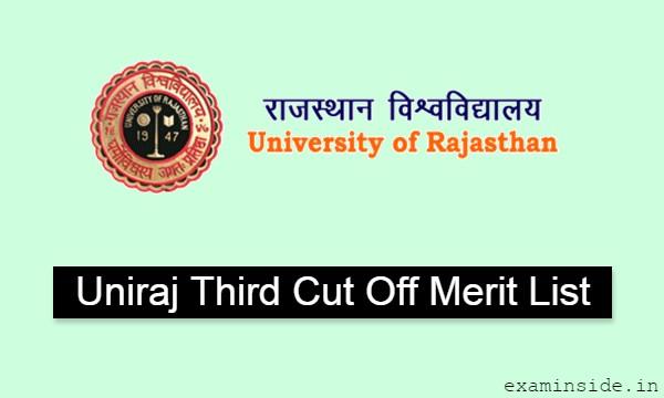 Rajasthan University 3rd Merit List 2021