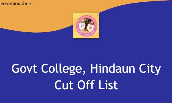 govt college, hindaun city cut off list 2021